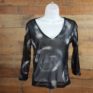 The Limited Women's Top Size S Sheer Nylon Black M